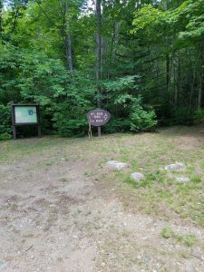 Mount Blue trailhead and parking lot