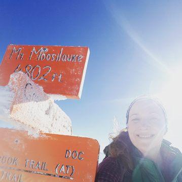 winter hiking, maine, maine adventures, mountains, krampons, solo hiking, new hampshire, Deuter, leki, kathoola, moosilauke