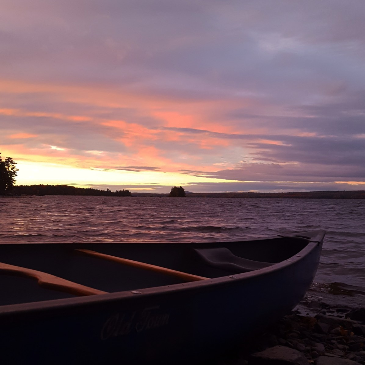 Moosehead Lake sunset, lakes in maine, sunset, where to camp in Maine