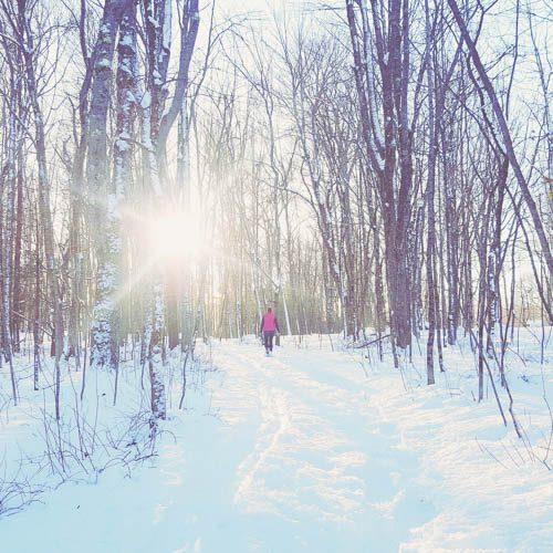 Snowshoeing in Dorthea Dix Park
