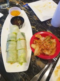 Oriental Jade - Kimchi and Spring Roll