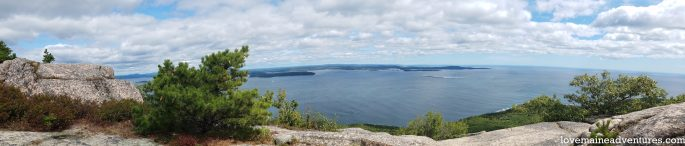 view from Precipice Trail, Acadia National Park, Hikes in Acadia National Park,