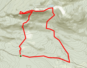 trail map of tumbledown mountain
