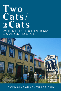 2 cats/ two cats bar harbor, where to eat in bar harbor,