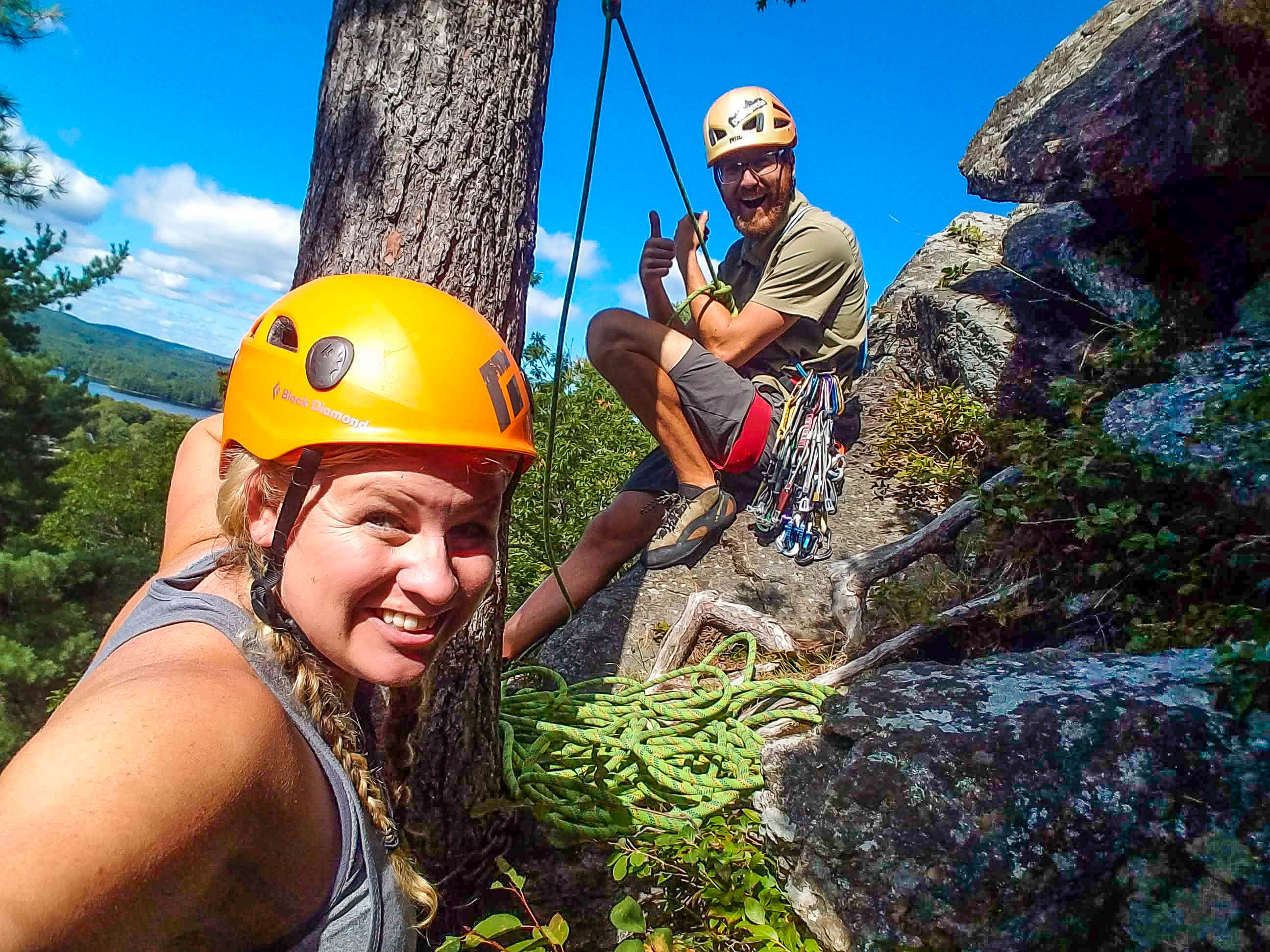 Rock Climbing in Camden, Maine with Equinox Guide Service