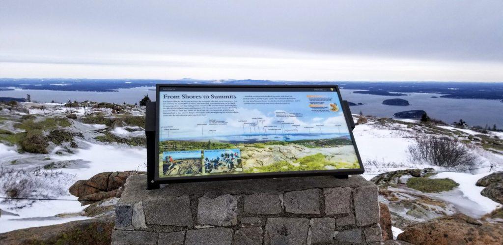 Cadillac Mountain Winter Summit Sign