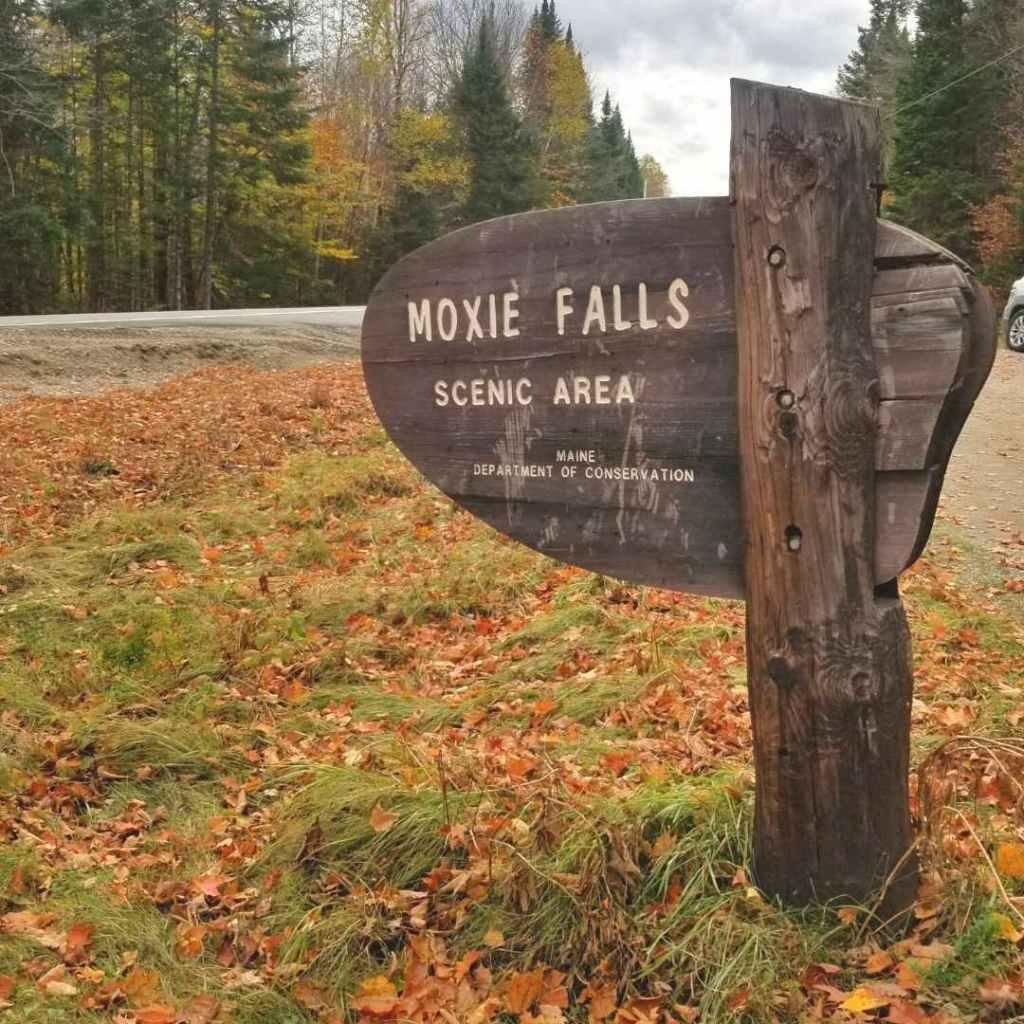 Moxie Falls Parking area