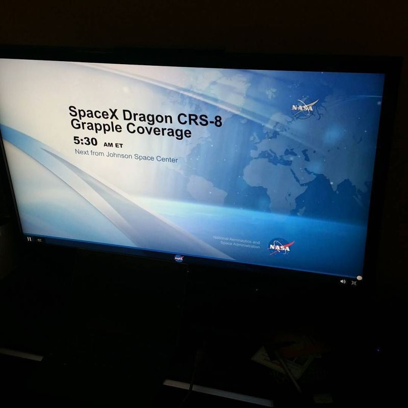NASA TV SpaceX Dragon