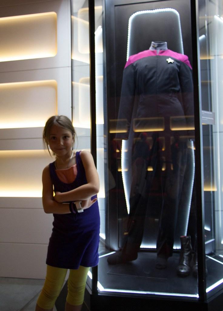 star trek the starfleet academy experience Janeway costume