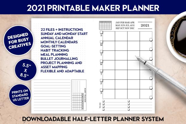 2021 Printable Maker Planner