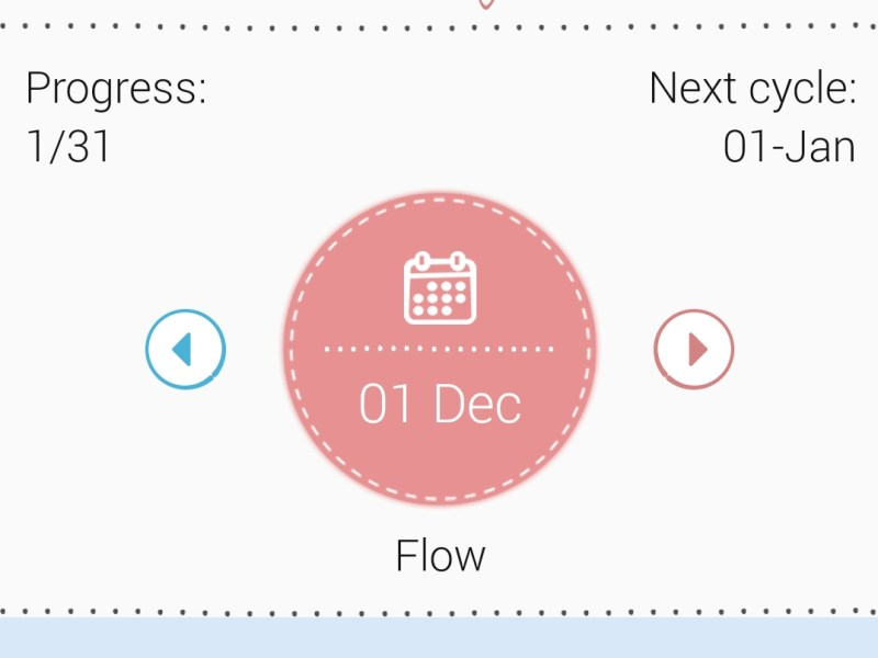 cycle tracking day 1 menstrual phase
