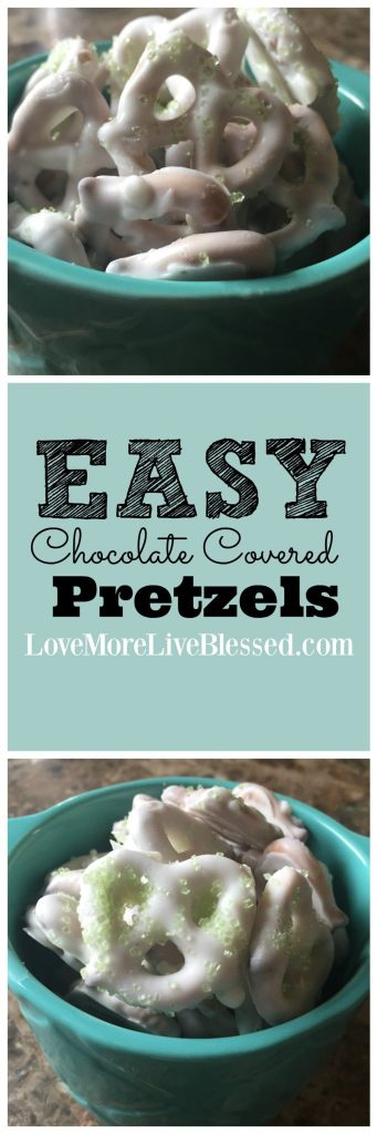 The easiest way to make chocolate covered pretzels.