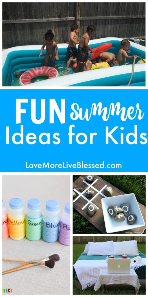 DIY Fun and easy ideas to keep your kids entertained this summer. I think the chalk paint will be a hit with all the kids this year!