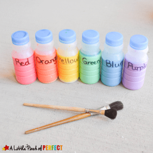 How cool does this sidewalk chalk paint look? I think the kids would love spending time playing outside with this!
