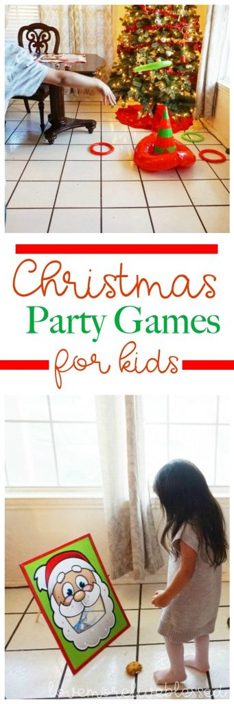 Fun Christmas party games for kids of all ages! I love how easy these games are to set up and how much fun the kids have playing these holiday games! Christmas Party games for kids| easy party games for kids| Christmas party ideas for kids