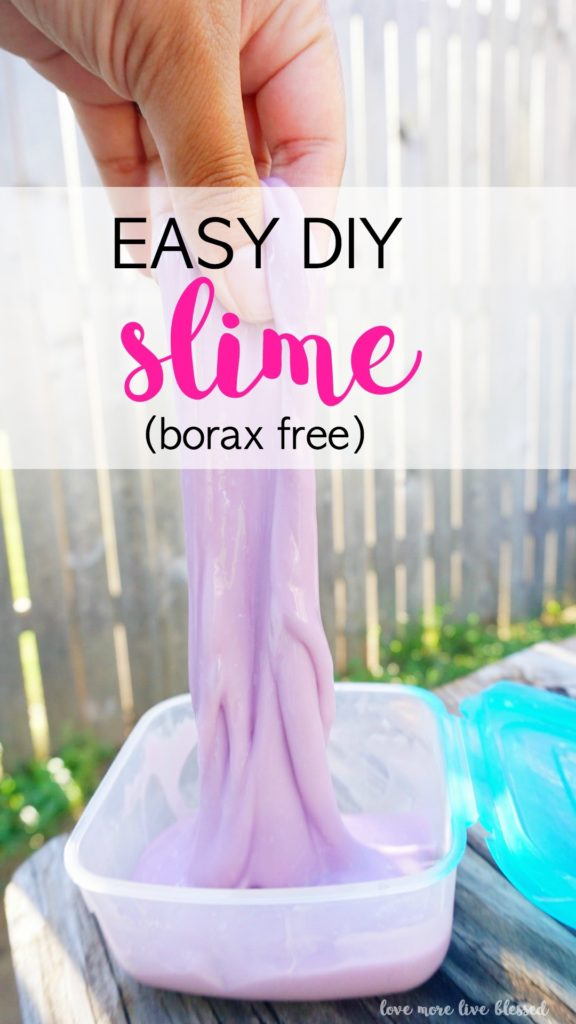 Quick and easy DIY slime recipe for kids. No borax needed for this slime. Ingredients include liquid starch, white glue and water. Making slime is such a fun and easy way to connect with your kids. slime | DIY slime | easy slime | how to make slime |