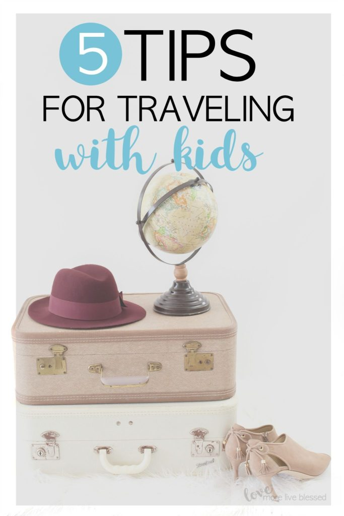 Traveling with kids doesn't have to be stressful. Keep your family prepared with these 5 Tips for traveling with kids. Traveling with young children, road trips with kids, vacation with kids.