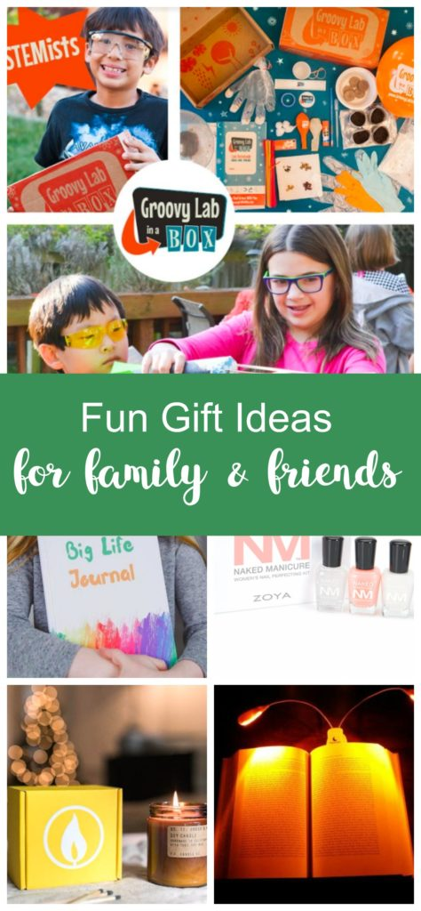 Fun gift ideas for family and friends. Unique gift ideas for kids and moms.
