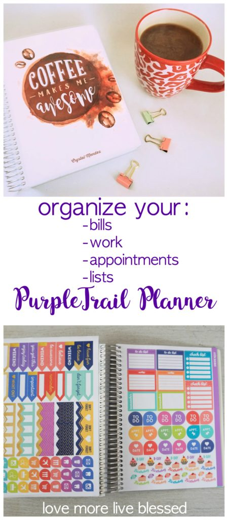 Looking for a way to organize your life with a planner? It's possible. Using a planner can help you live a more organized life. #PurpleTrailPlanner #plannerreview #2018Planner