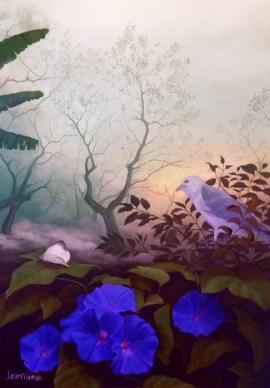 A Glória da Manhã (2015) 70x100 cm Acrylic on canvas, SOLD