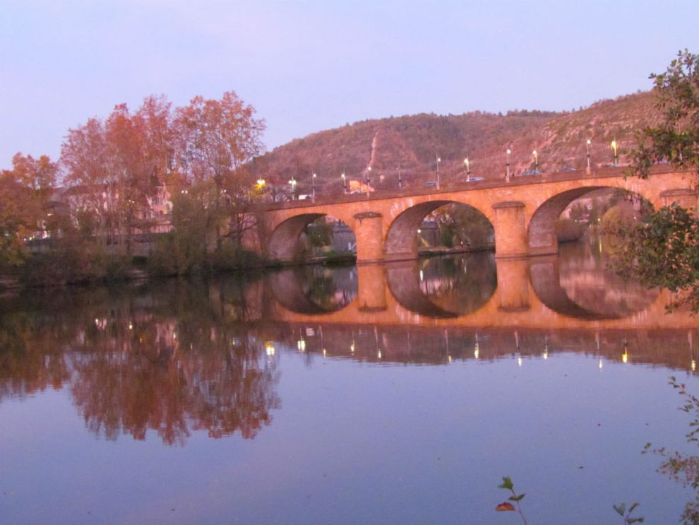 'Our' bridge in Cahors, early evening