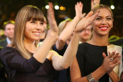 Jessica Biel y Beyonce