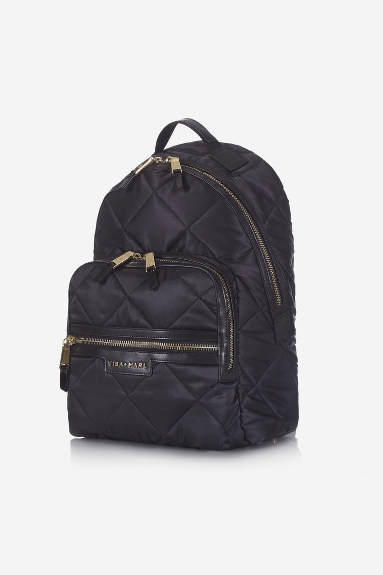 Tiba and Marl Elwood Backpack (black quilted)