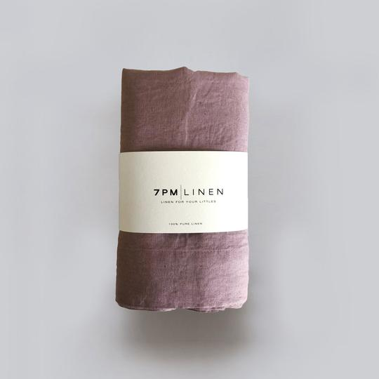 7 Pm Linen Wrap/Swaddle (rosewood)