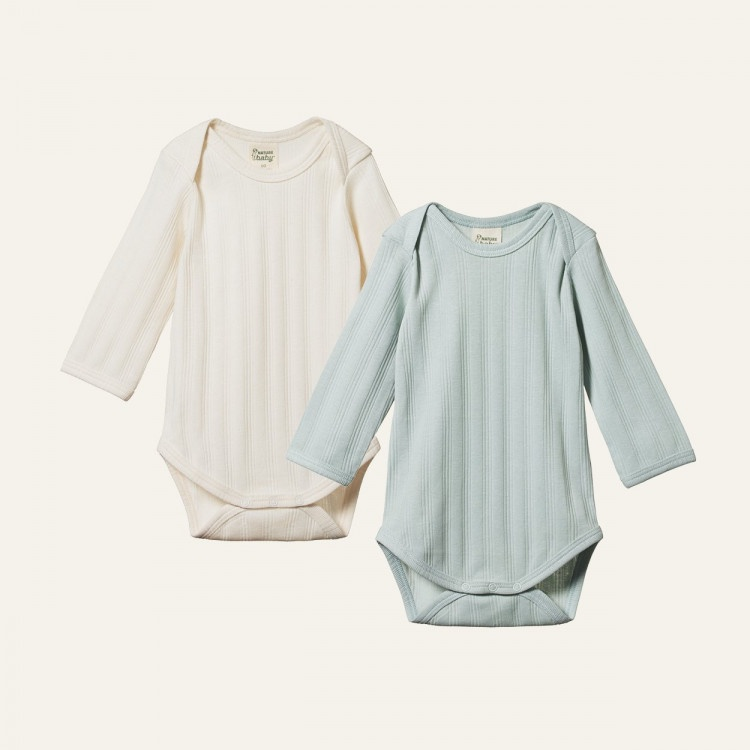 Nature Baby 2 Pk Long Sleeve Bodysuit