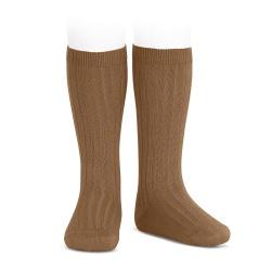 Condor Rib Knee High Socks (toffee)