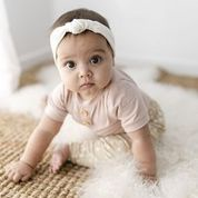 Two Darlings Baby Bamboo Harem Pant (latte speckle)
