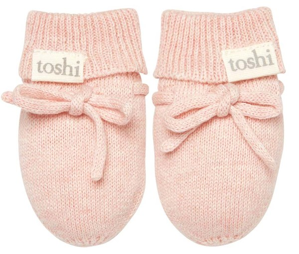 Toshi Organic Knitted Baby Mittens (peony)