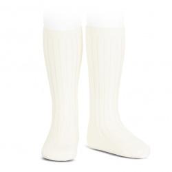 Condor Rib Knee High Socks (202) (beige/nata)