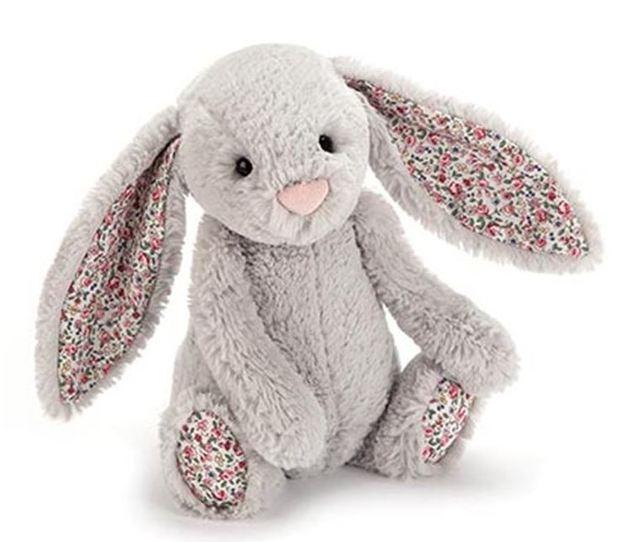 JellyCat Bashful Silver Blossom Bunny Meduim