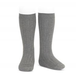 Condor Rib Knee High Socks (light grey)
