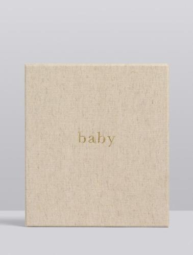 Write to Me Baby Journal - Your First Five Years (oatmeal)