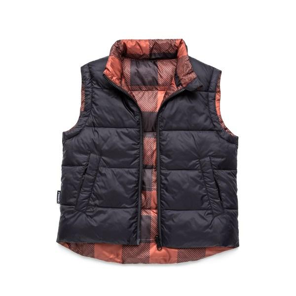 Cry Wolf Reversible Vest (plaid)