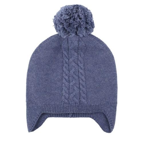 Bebe Finn Cable Knit Beanie (dusty blue)