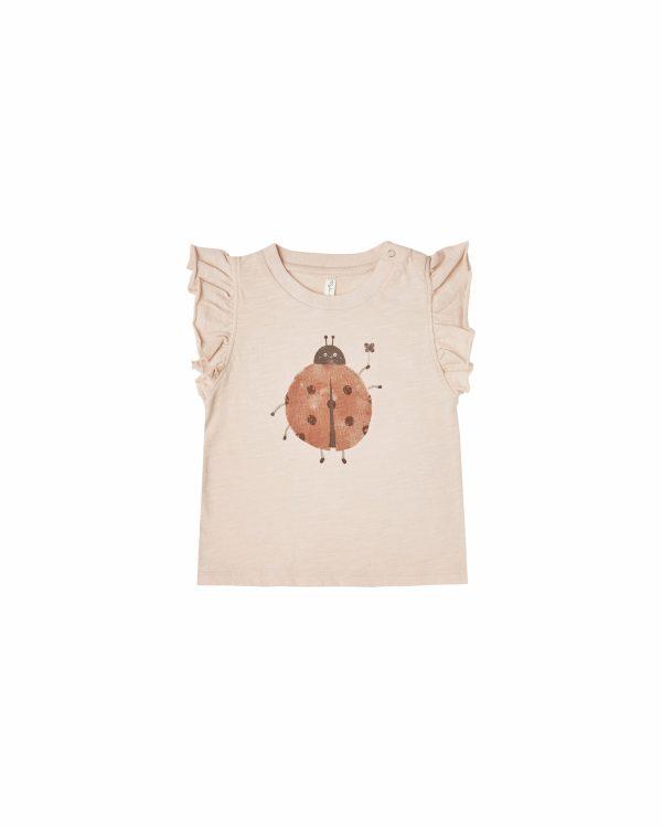 Rylee and Cru Ruffled Tank (ladybug)
