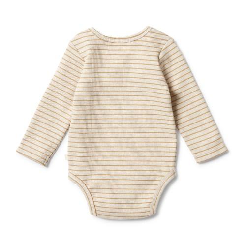 Wilson and Frenchy Organic Stripe Rib Bodysuit