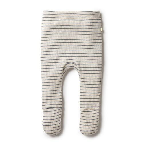 Wilson and Frenchy Organic Stripe Rib Footed Legging