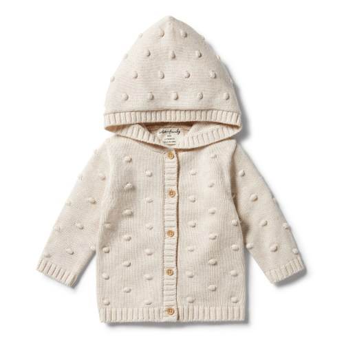 Wilson and Frenchy Knitted Spot Jacquard Jumper (oatmeal melange)