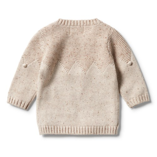 Wilson and Frenchy Knitted Jumper w/ Baubles (oatmeal fleck)