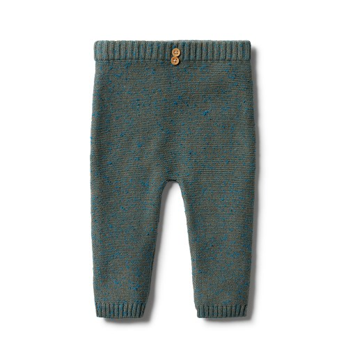 Wilson and Frenchy Knitted Ottoman Legging (dusty olive fleck)