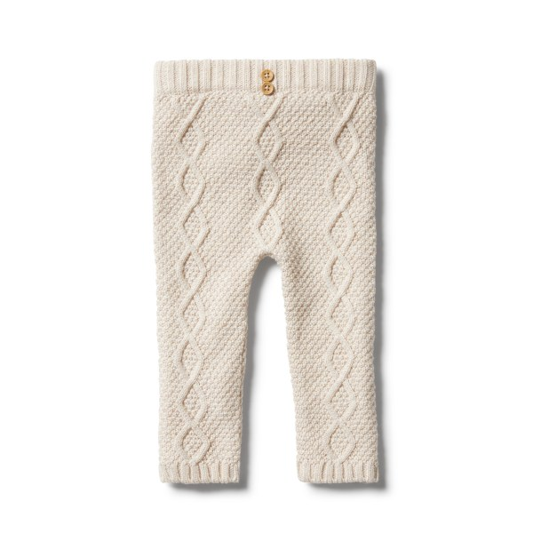 Wilson and Frenchy Knitted Cable Legging (oatmeal melange)