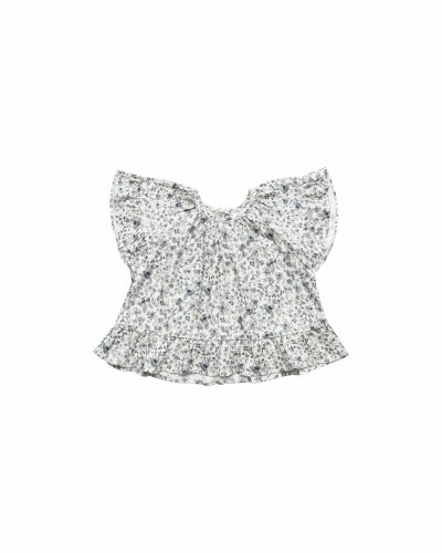 Rylee and Cru Butterfly Top (blue floral)