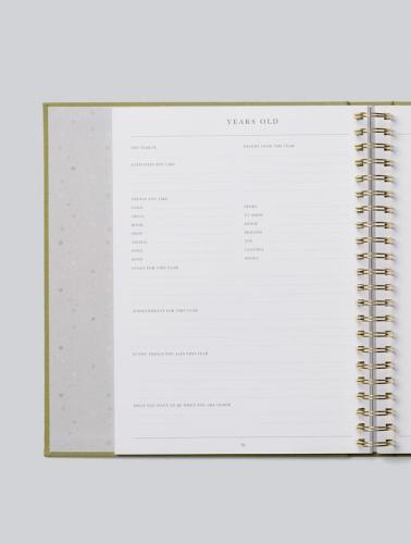 Write to Me Childhood Journal - Your Childhood Memories (sage)