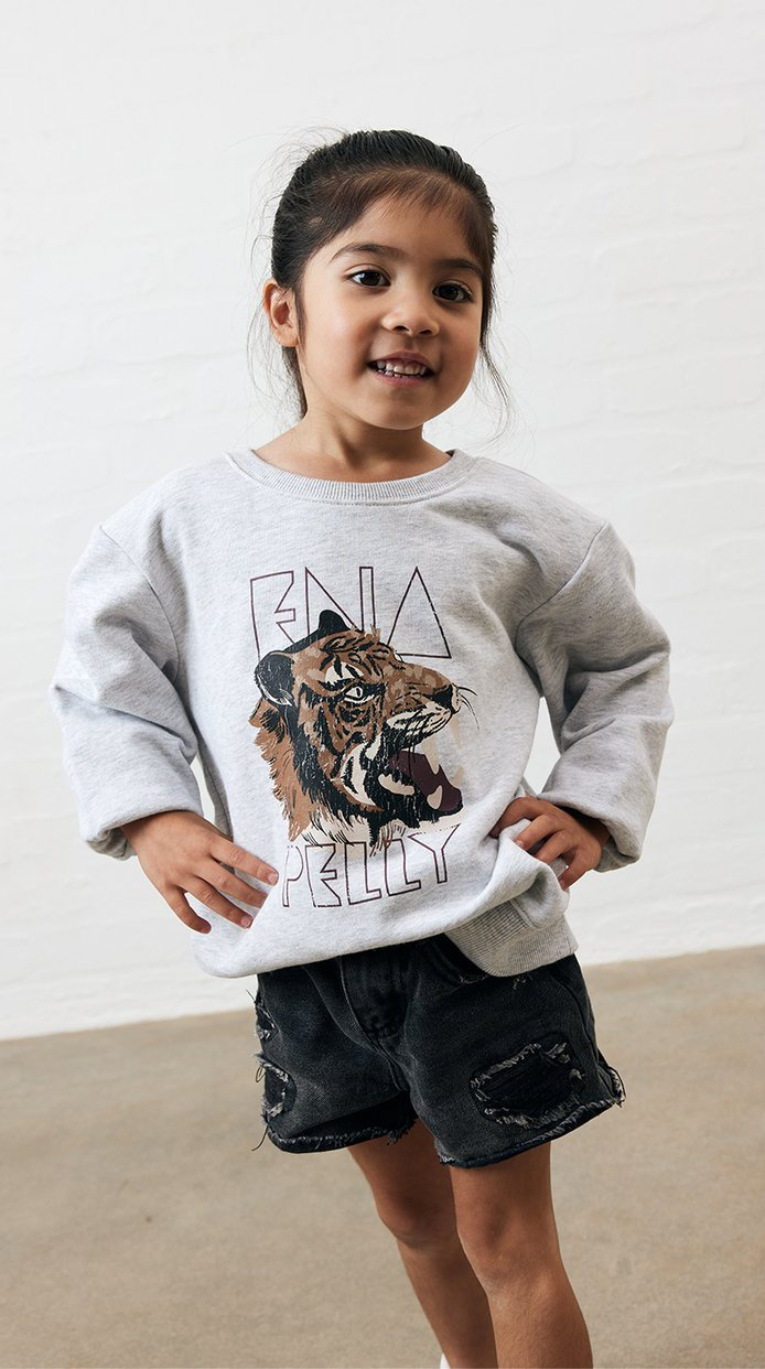 Ena Pelly Wilderness Sweatshirt (white marle)