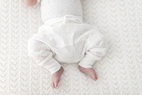Two Darlings Baby Harem Pant (coconut pointelle) ** PRe ORder