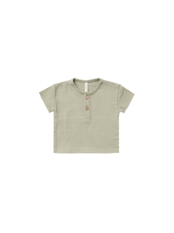 Quincy Mae Baby Woven Henry Top